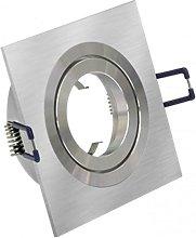 Downlight cuadrado 1 foco Aluminio Cepillado -