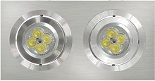 Downlight Empotrable Rectangular 2 Focos Aluminio