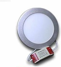 Downlight LED redondo 12W Aro Plata   Blanco