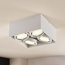 Downlight LED Rosalie, atenuable, 4 luces, blanco
