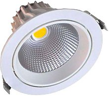Downlight Led Round COB basculante 16W, Blanco