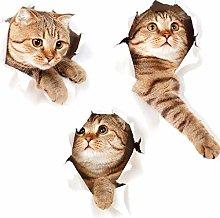 DQY Pegatina De Pared 3D Cat Stickers Vinilos