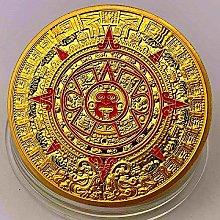 Dragón Lacado Calendario Maya Azteca Chapado en