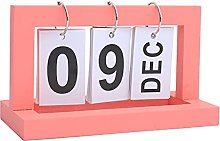 DREAMDEER Calendario Diario de Escritorio con Tapa