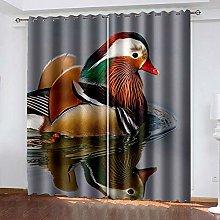 DRFQSK 3D Pájaro Animal Patrón Cortinas Salon