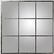 DRW Espejo de Pared Cuadrado con Forma de Ventana,