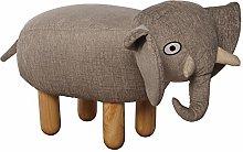 DRW Puf Infantil Elefante de Tela poliéster con