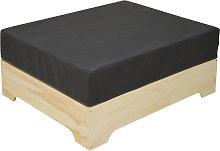 Ds Muebles - Puf industrial BOX con cojín de