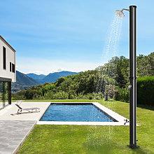 Ducha de jardín con energía solar, con grifo,