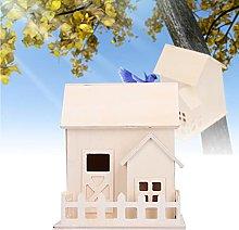 Duokon Originalidad de Madera casa para pájaros