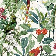 DUTCH WALLCOVERINGS Papel pintado pájaros