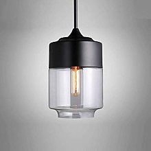 E27 Lámpara colgante de vidrio, Mengjay Creative