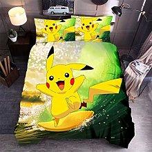 EA-SDN Pokemon Pikachu - Funda de edredón para