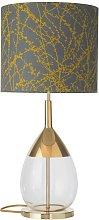 EBB & FLOW Lute lámpara de mesa Branches gris/ocre
