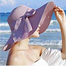 EBZP Sombrero de Paja de ala Ancha para Mujer
