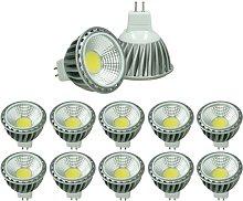 ECD Germany 10x LED Spot 6W COB GU10 - Equivale