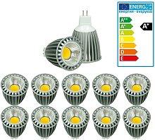 ECD Germany 10x LED Spot 9W COB MR16 - Equivale