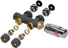 Ecd Germany - Set válvula del radiador termostato