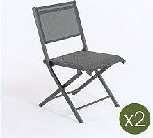 Edenjardin - Pack 2 sillas de exterior plegables,