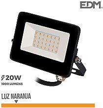 Edm 70317 Foco Proyector Led 20W, Luz Naranja