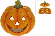 Edm - Portavelas Calabaza Halloween Ceramico