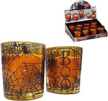 Edm - Vela Halloween 5X6Cm Vaso Cristal Euro/U