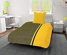 Edredón Estampado 140 x 200 cm DAMIER Amarillo de