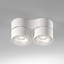 Egger Clippo Duo foco de techo LED, blanco, 2.700K