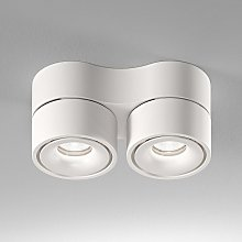 Egger Clippo Duo foco de techo LED, blanco, 3.000K