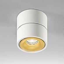 Egger Clippo foco de techo LED, blanco-oro, 3.000K