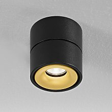 Egger Clippo foco de techo LED, negro-oro, 3.000K