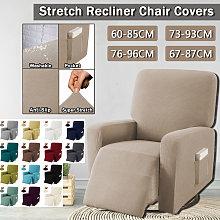 El sillón reclinable extensible cubre el sofá