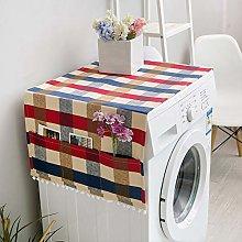 Elegante funda para nevera, lavadora, tela de lino