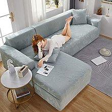 Elegante fundas de sofá en forma de L para sala