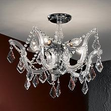 Elegante lámpara de araña de cristal Caroline