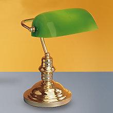 Elegante lámpara de sobremesa Onella, verde