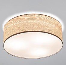 Elegante plafón Liska con madera clara