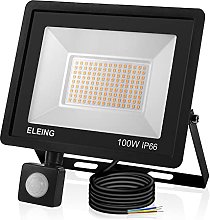 ELEING 100W Foco LED con Sensor Movimiento, IP66