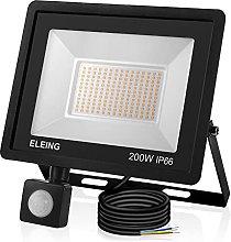 ELEING 200W Foco LED con Sensor Movimiento, IP66