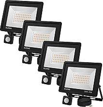 ELEING 30W Foco LED con Sensor Movimiento, IP66