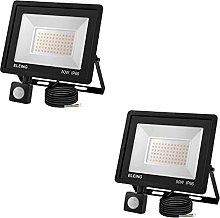 ELEING 50W Foco LED con Sensor Movimiento, IP66