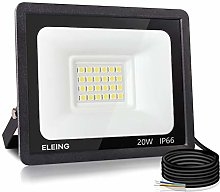 ELEING Proyector LED Exterior 20W 1600LM 6500K