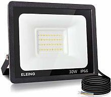 ELEING Proyector LED Exterior 30W 2400LM 6500K
