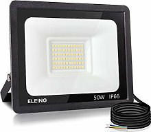ELEING Proyector LED Exterior 50W 4000LM 3000K