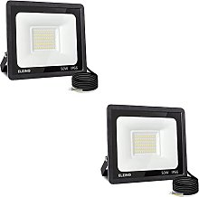ELEING Proyector LED Exterior 50W 4000LM 6500K