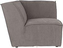 Elemento de esquina del sofá James Rib Grey