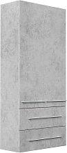 Emotion - Mueble auxiliar XL Gris hormigón