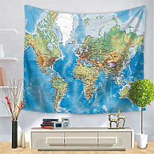 Enhome Mapa del Mundo Tapiz Pared de Creativo