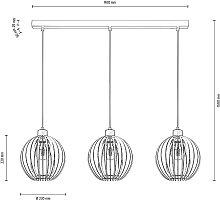Envolight Clay lámpara colgante abedul 3 luces