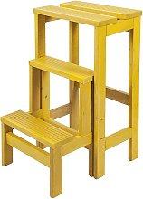Escalera banqueta 3 peldaños amarillo